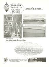 1950 Truscon Hangar Canopy Doors Ad United Airlines San Francisco CA Airport