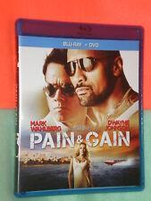 PRISTINE Pain & Gain WIDESCREEN Blu-ray DVD COMBO + CODE SHEET THE ROCK MONK