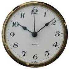 103mm Clock for Caravans, Motorhomes & Boats, Arabic dial, brass bezel