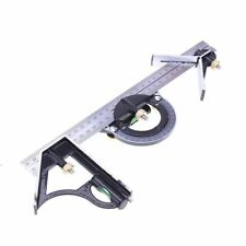 Angle Ruler Protractor Head Finder Spirit Level Measuring Tools Set Tempered New