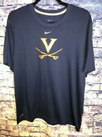 Nike DriFit Navy Virginia Cavaliers T-shirt Size L🔥🏈 RareOnly1 🔥