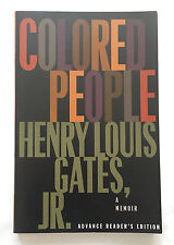 COLORED PEOPLE A MEMOIR by Henry Louis Gates Jr • 1994 Advance Reader's Edition