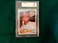 1969 TOPPS RICHIE ALLEN PHILLIES  # 350 GRADED BECKETT 8 NM-MT...CENTERED..RARE
