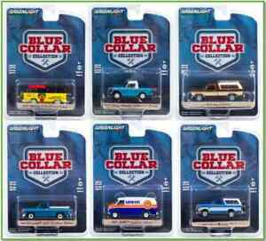 GREENLIGHT BLUE COLLAR COLLECTION SERIES 8, SET OF 6 CARS  35180 BB13-68