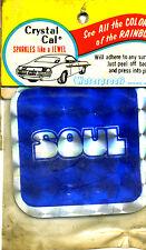 vtg prismatic sticker novelty SOUL 70's disco chopper biker van wagon retro blue