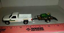 1/64 ERTL farm toy custom John deere dodge truck trailer & jd lawn mower s scale