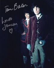 Tom Baker and Louise Jameson Autographed 8x10 Photo Doctor Who (2)