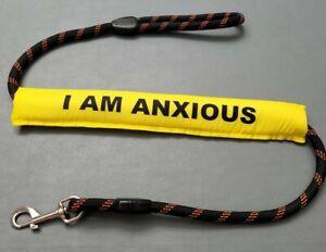 Dog Lead Sleeve yellow I am anxious