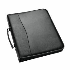 A4 Ring Binder Conference Folder Folio With Zip Soft Padded Cover Business Organ