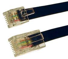 BROADBAND MODEM RJ45 TO RJ11 Rj12 6 pins core LEAD CABLE BLACK 1m