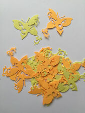 Delicate Butterfly Diecuts in Yellow and Orange, Decorations, Scrapbooking,Cards