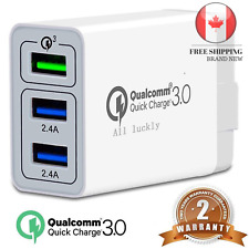 🇨🇦 Quick Charge 3 0 USB Fast Wall Charger 3Port Travel Fast Charger Adapter...