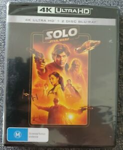 Solo A Star Wars Story 4K + Blu-ray (3 Disc Set) Brand New Sealed