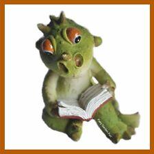 Miniature Dollhouse FAIRY GARDEN DRAGON Reading Book Little Baby Figurine 4366