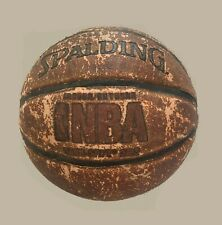 Spalding NBA Tack Soft Basketball Vintage Leather old Ball, Official Size 28.5