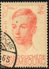 Luxembourg 1939 Reign & Royal Wedding 1f.+25c Red on Cream SG.393 Used