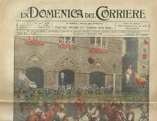 La Domenica del Corriere 29 - 5 Settembre 1909 Pallonata in Piazza del Campo