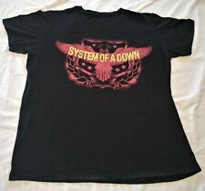 System Of A Down SOAD Black Large Size T Shirt Eagle Front Graphic