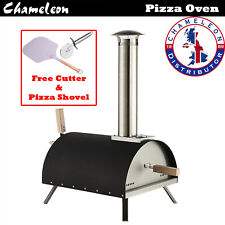 Outdoor Garden Pizza Oven Wood Pellet Multi Fuelled BBQ Grill Chimney