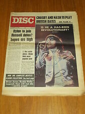 DISC AND MUSIC ECHO OCTOBER 16 1971 CROSBY AND NASH BOB DYLAN BUDDY HOLLY