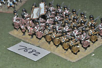 25mm napoleonic / austrian - grenadiers 32 figs metal painted - inf (7682)
