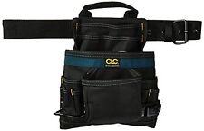 Custom Leathercraft 2823 Ballistic Nail and Tool Bag, 10-Pocket