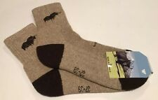 Yak Wool Blend Socks Warm Brown Size M 37-39 NWT Made In Mongolia