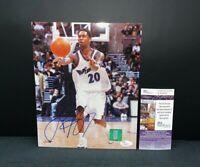 LARRY HUGHES WASHINGTON WIZARDS NBA SIGNED 8X10 PHOTO W/JSA COA