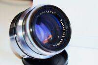 RARE Silver Carl Zeiss Jena Biotar 17 blades  RED T 1:2 F=58 MM SLR lens EXAKTA