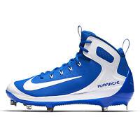 NIKE ALPHA HUARACHE ELITE MID METAL Mens Baseball Cleats, Blue / White, Size 7