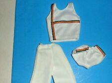 Barbie Active Wear doll clothes 1980's 1990's outfit 3 Pcs Set Top Slacks Shorts