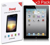 3X Dooqi Matte Anti Glare Screen Protector Guard Film For iPad 2nd 3rd & 4th gen