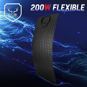 MOBI 200W Flexible Solar Panel Mono Cell 12V For Camping RV With MC4