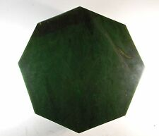 "BC Jade 8.5Lb Gem Quality Unique one of a kind 9.5"" Octagonal Base Plate ACKTONN"