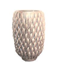 "26/"" Silver Ceramic Floor Vase Decorative Elegant Home Décor Cylinder Tower Gift"