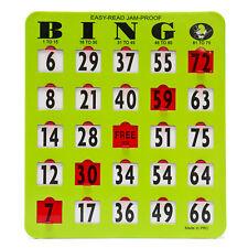 "25 Green Bingo Easy Read Jumbo Shutter Slide 8"" x 9"" Cards - Item# 65-0053CG"