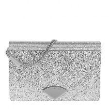 0bc06bde2cef New ListingNew MICHAEL Kors Barbara Medium Envelope Glitter Silver Clutch  Evening Bag Purse