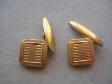 Metal Cufflinks 171Nes20 Vintage Pair of Gilt