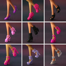 10 pair / lot  New Original high quality crystal shoes  for barbie doll