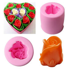 Soap Mould 3D Rose Flower Flexible Silicone Mold For Handmade Clay Candy Candle