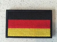 Germany  Flag Embroidery Iron Sewn On Patch 8x5cm Hook &Loop