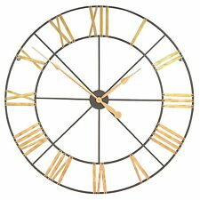 Large 102cm Gold Numerals Skeleton Metal Wall Clock
