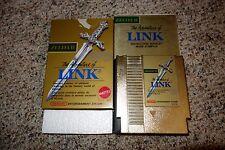 Zelda II: The Adventure of Link Gold (Nintendo NES, 1988) Complete GOOD Mattel