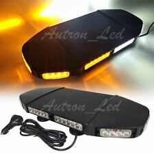 "19"" 144W LED Amber White Warn Emergency Beacon Response Signal Strobe Light Bar"
