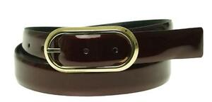 Style & Co Belt Patent Leather Burgundy Red Black Reversible Medium New NWT