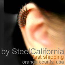 Black ear cuff, curved ear cartilage ear cuff, ear cuff for men, sterling silver