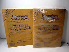 1988 Hemmings Motor News March & April Magazines Antique Auto Car Truck Catalog