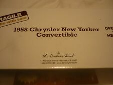 Un Danbury Comme neuf scale model of a 1958 CHRYSLER NEW YORKER Convertible.
