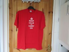 """BN In Bag""""Size XL Quality T/shirt""""Keep Calm And Carry On""""UnderarmApp48inch""""L30in"""