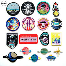 (30 Style) 1 PCS UFO Alien Parches Embroidery Iron on Patches for Clothing DIY S
